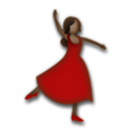 Woman Dancing: Dark Skin Tone on LG G5