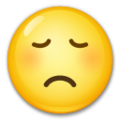 Disappointed Face on LG G5
