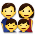Family: Man, Woman, Boy, Boy on LG G5