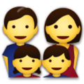 Family: Man, Woman, Girl, Boy on LG G5