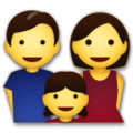Family: Man, Woman, Girl on LG G5