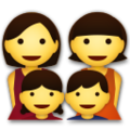 Family: Woman, Woman, Girl, Boy on LG G5