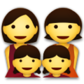 Family: Woman, Woman, Girl, Girl on LG G5