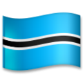 Flag: Botswana on LG G5