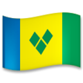 Flag: St. Vincent & Grenadines on LG G5