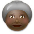 Old Woman: Dark Skin Tone on LG G5