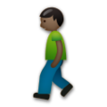 Person Walking: Dark Skin Tone on LG G5