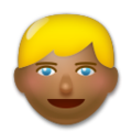 Blond-Haired Person: Medium-Dark Skin Tone on LG G5