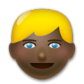 Person: Dark Skin Tone, Blond Hair on LG G5