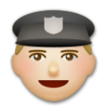 Police Officer: Medium-Light Skin Tone on LG G5