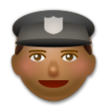 Police Officer: Medium-Dark Skin Tone on LG G5