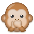 Speak-No-Evil Monkey on LG G5