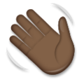 Waving Hand: Dark Skin Tone on LG G5