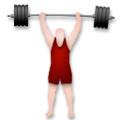 Person Lifting Weights: Light Skin Tone on LG G5