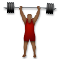 Person Lifting Weights: Medium-Dark Skin Tone on LG G5