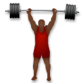 Person Lifting Weights: Dark Skin Tone on LG G5