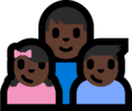 Family - Man: Dark Skin Tone, Girl: Dark Skin Tone, Boy: Dark Skin Tone on Microsoft Windows 10 Fall Creators Update