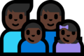 Family - Man: Dark Skin Tone, Man: Dark Skin Tone, Boy: Dark Skin Tone, Girl: Dark Skin Tone on Microsoft Windows 10 Fall Creators Update