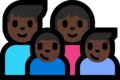 Family - Man: Dark Skin Tone, Woman: Dark Skin Tone, Boy: Dark Skin Tone, Boy: Dark Skin Tone on Microsoft Windows 10 Fall Creators Update