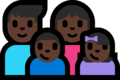 Family - Man: Dark Skin Tone, Woman: Dark Skin Tone, Boy: Dark Skin Tone, Girl: Dark Skin Tone on Microsoft Windows 10 Fall Creators Update