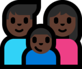 Family - Man: Dark Skin Tone, Woman: Dark Skin Tone, Boy: Dark Skin Tone on Microsoft Windows 10 Fall Creators Update