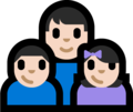 Family - Man: Light Skin Tone, Boy: Light Skin Tone, Girl: Light Skin Tone on Microsoft Windows 10 Fall Creators Update