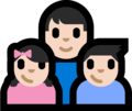 Family - Man: Light Skin Tone, Girl: Light Skin Tone, Boy: Light Skin Tone on Microsoft Windows 10 Fall Creators Update