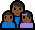 Family - Man: Medium-Dark Skin Tone, Boy: Medium-Dark Skin Tone, Girl: Medium-Dark Skin Tone on Microsoft Windows 10 Fall Creators Update