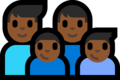 Family - Man: Medium-Dark Skin Tone, Man: Medium-Dark Skin Tone, Boy: Medium-Dark Skin Tone, Boy: Medium-Dark Skin Tone on Microsoft Windows 10 Fall Creators Update