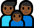 Family - Man: Medium-Dark Skin Tone, Man: Medium-Dark Skin Tone, Boy: Medium-Dark Skin Tone on Microsoft Windows 10 Fall Creators Update