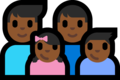 Family - Man: Medium-Dark Skin Tone, Man: Medium-Dark Skin Tone, Girl: Medium-Dark Skin Tone, Boy: Medium-Dark Skin Tone on Microsoft Windows 10 Fall Creators Update