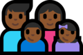 Family - Man: Medium-Dark Skin Tone, Woman: Medium-Dark Skin Tone, Boy: Medium-Dark Skin Tone, Girl: Medium-Dark Skin Tone on Microsoft Windows 10 Fall Creators Update