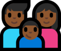 Family - Man: Medium-Dark Skin Tone, Woman: Medium-Dark Skin Tone, Boy: Medium-Dark Skin Tone on Microsoft Windows 10 Fall Creators Update