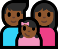 Family - Man: Medium-Dark Skin Tone, Woman: Medium-Dark Skin Tone, Girl: Medium-Dark Skin Tone on Microsoft Windows 10 Fall Creators Update