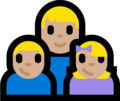 Family - Man: Medium-Light Skin Tone, Boy: Medium-Light Skin Tone, Girl: Medium-Light Skin Tone on Microsoft Windows 10 Fall Creators Update