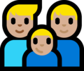 Family - Man: Medium-Light Skin Tone, Man: Medium-Light Skin Tone, Boy: Medium-Light Skin Tone on Microsoft Windows 10 Fall Creators Update