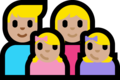 Family - Man: Medium-Light Skin Tone, Woman: Medium-Light Skin Tone, Girl: Medium-Light Skin Tone, Girl: Medium-Light Skin Tone on Microsoft Windows 10 Fall Creators Update