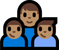 Family - Man: Medium Skin Tone, Boy: Medium Skin Tone, Boy: Medium Skin Tone on Microsoft Windows 10 Fall Creators Update