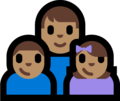 Family - Man: Medium Skin Tone, Boy: Medium Skin Tone, Girl: Medium Skin Tone on Microsoft Windows 10 Fall Creators Update