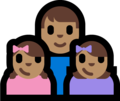 Family - Man: Medium Skin Tone, Girl: Medium Skin Tone, Girl: Medium Skin Tone on Microsoft Windows 10 Fall Creators Update