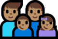 Family - Man: Medium Skin Tone, Man: Medium Skin Tone, Boy: Medium Skin Tone, Girl: Medium Skin Tone on Microsoft Windows 10 Fall Creators Update