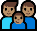 Family - Man: Medium Skin Tone, Man: Medium Skin Tone, Boy: Medium Skin Tone on Microsoft Windows 10 Fall Creators Update