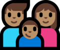 Family - Man: Medium Skin Tone, Woman: Medium Skin Tone, Boy: Medium Skin Tone on Microsoft Windows 10 Fall Creators Update