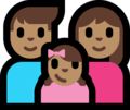 Family - Man: Medium Skin Tone, Woman: Medium Skin Tone, Girl: Medium Skin Tone on Microsoft Windows 10 Fall Creators Update