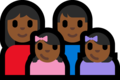 Family - Woman: Medium-Dark Skin Tone, Man: Medium-Dark Skin Tone, Girl: Medium-Dark Skin Tone, Girl: Medium-Dark Skin Tone on Microsoft Windows 10 Fall Creators Update