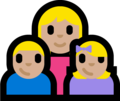 Family - Woman: Medium-Light Skin Tone, Boy: Medium-Light Skin Tone, Girl: Medium-Light Skin Tone on Microsoft Windows 10 Fall Creators Update