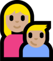 Family - Woman: Medium-Light Skin Tone, Boy: Medium-Light Skin Tone on Microsoft Windows 10 Fall Creators Update