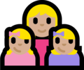 Family - Woman: Medium-Light Skin Tone, Girl: Medium-Light Skin Tone, Girl: Medium-Light Skin Tone on Microsoft Windows 10 Fall Creators Update