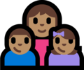 Family - Woman: Medium Skin Tone, Boy: Medium Skin Tone, Girl: Medium Skin Tone on Microsoft Windows 10 Fall Creators Update