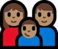 Family - Woman: Medium Skin Tone, Man: Medium Skin Tone, Boy: Medium Skin Tone on Microsoft Windows 10 Fall Creators Update